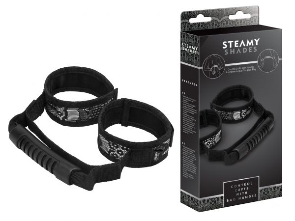 STEAMY SHADES Control Cuffs with Bag Handle jovalove Handfessel